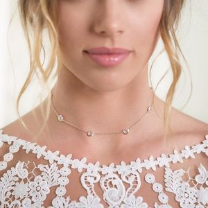 Jewelry - 4 for $25⚡️crystal water drop choker necklace